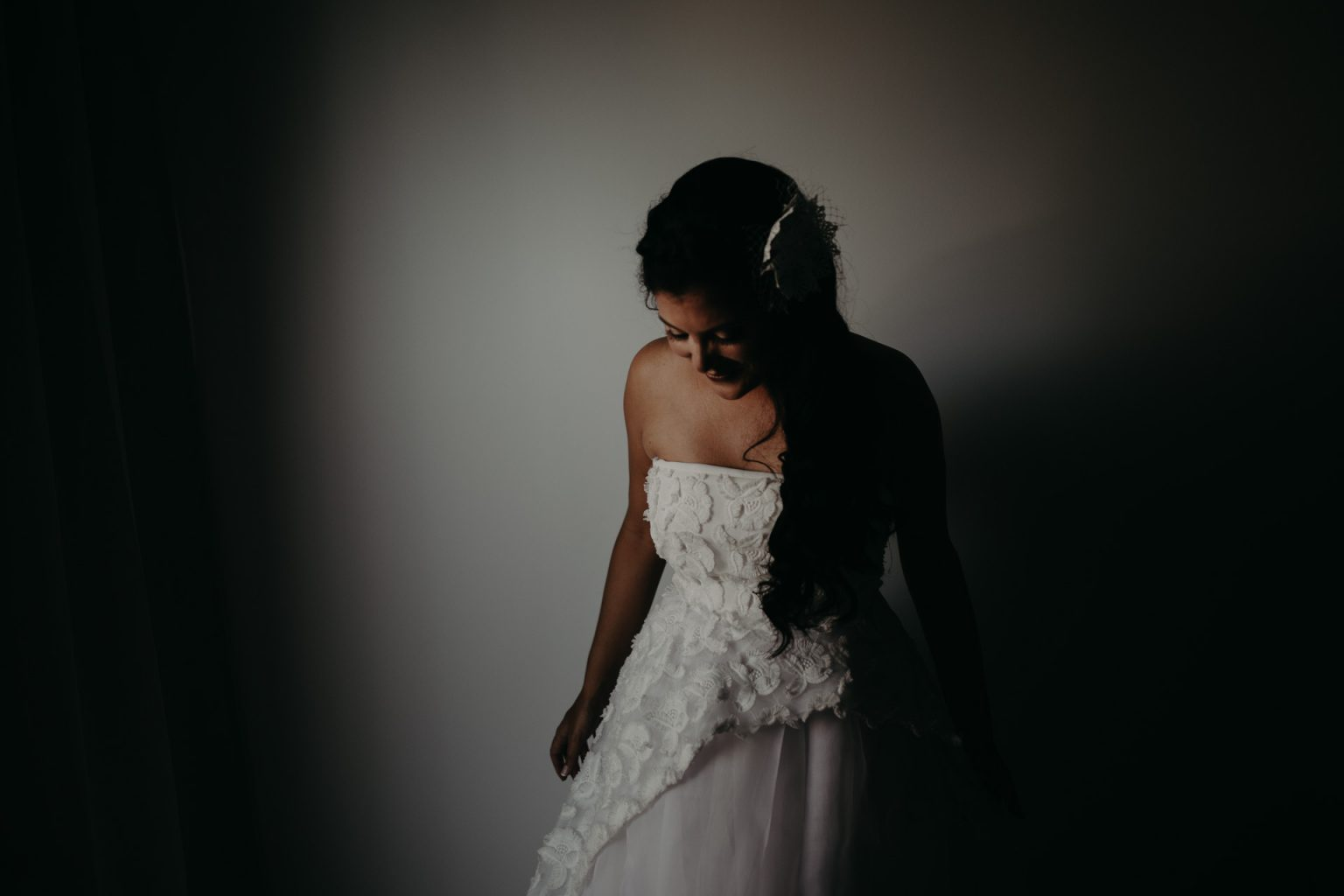 woman in bridal gown