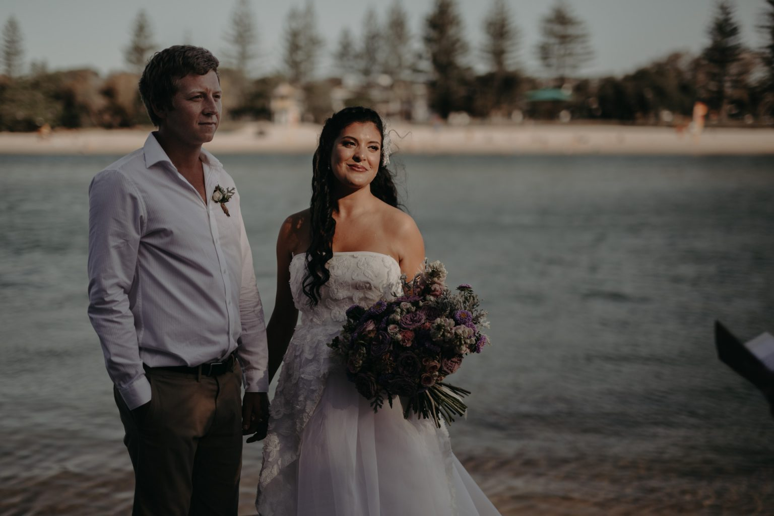 bride and groom intimate elopement echo beach burleigh