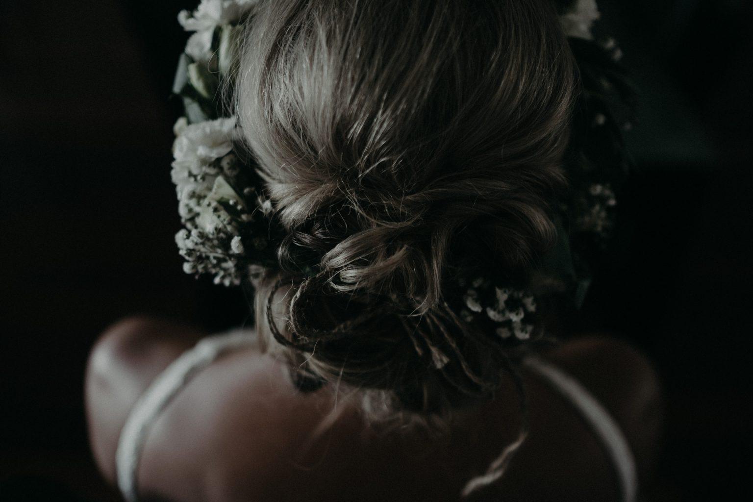 bride flower crown