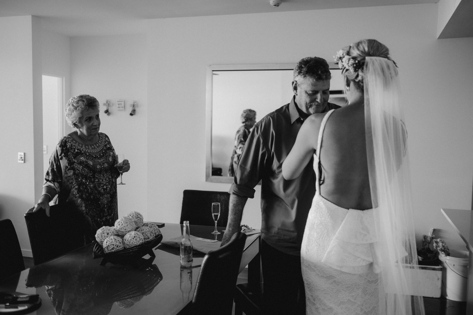 bride with father crying