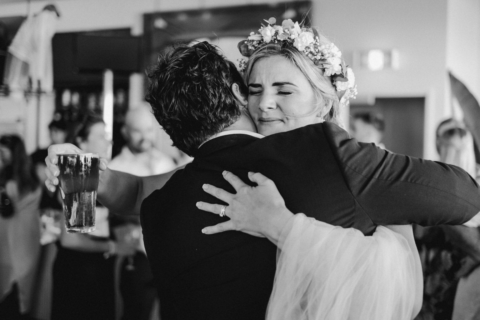 bride groom reception  emotion
