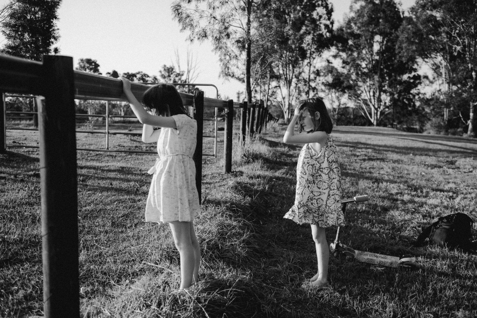 twin sisters in paddock
