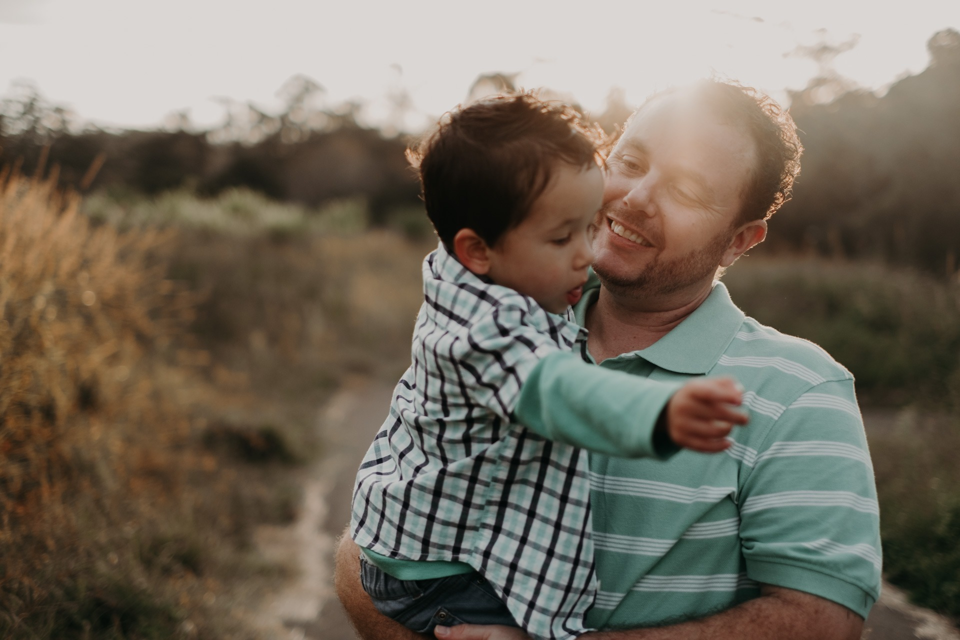 father and son mt tamborine country golden light