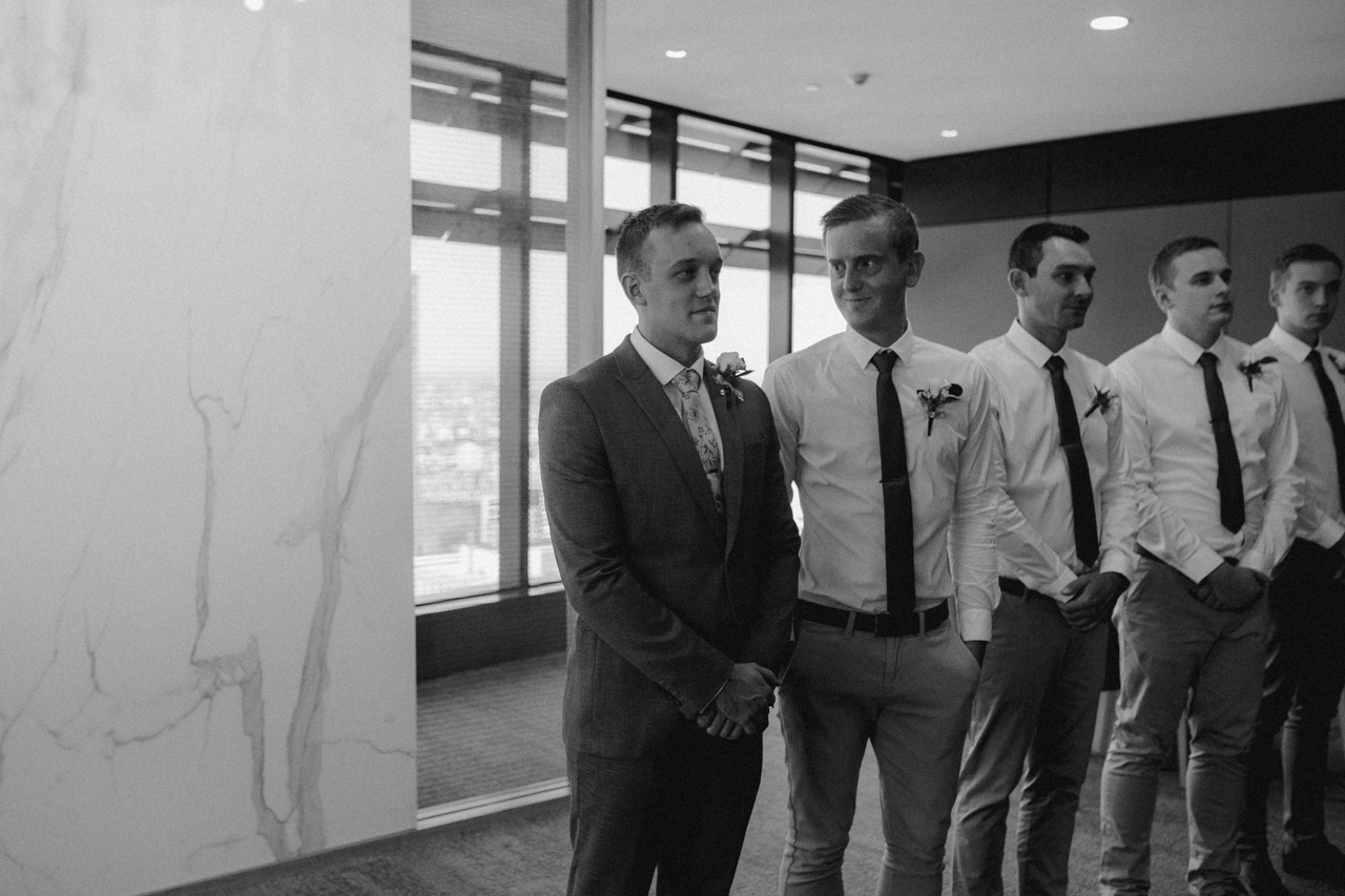 Groomsmen at Brisbane Registry RBDM