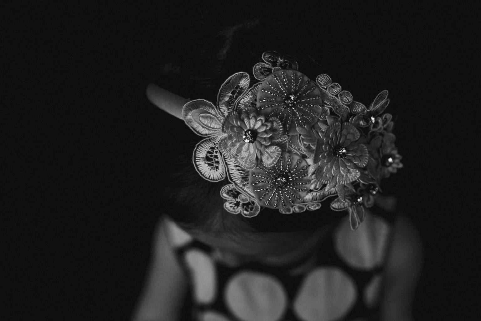flower girl headband ornate