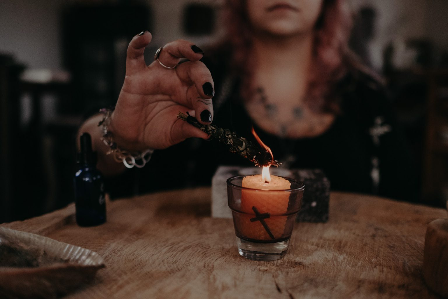 women with candle