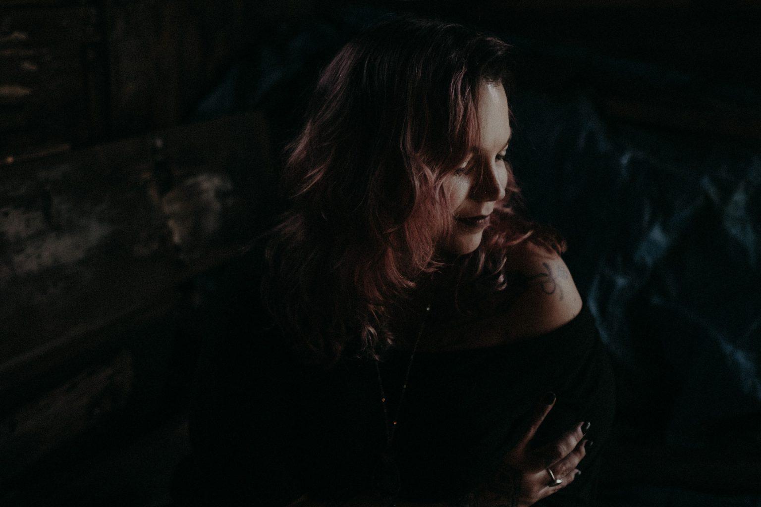 portrait of woman in shadow brisbane