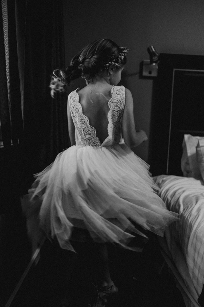 bridesmaid twirling