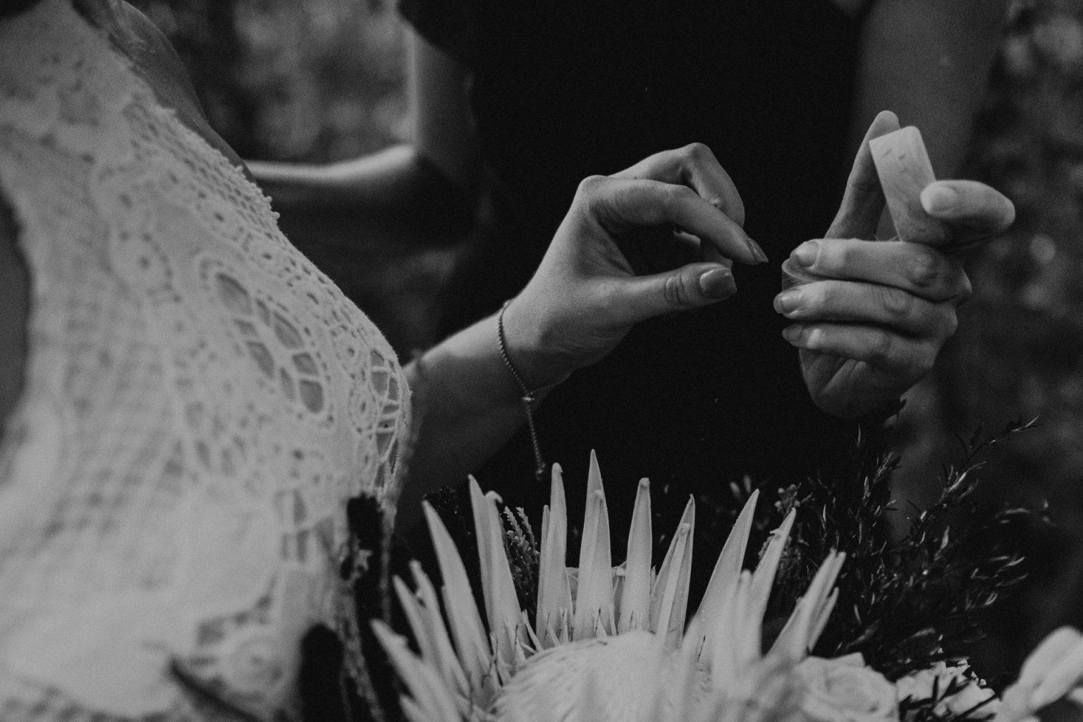 woman taking ring