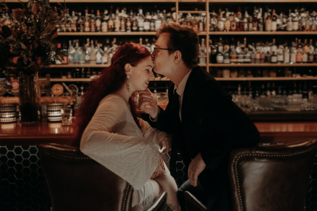 bride groom brisbane elopement death and taxes whisky bar