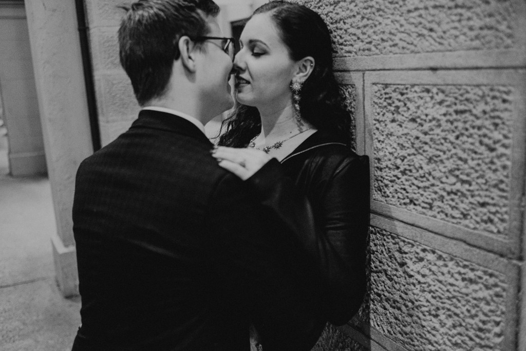 bride groom brisbane elopement wall sexy