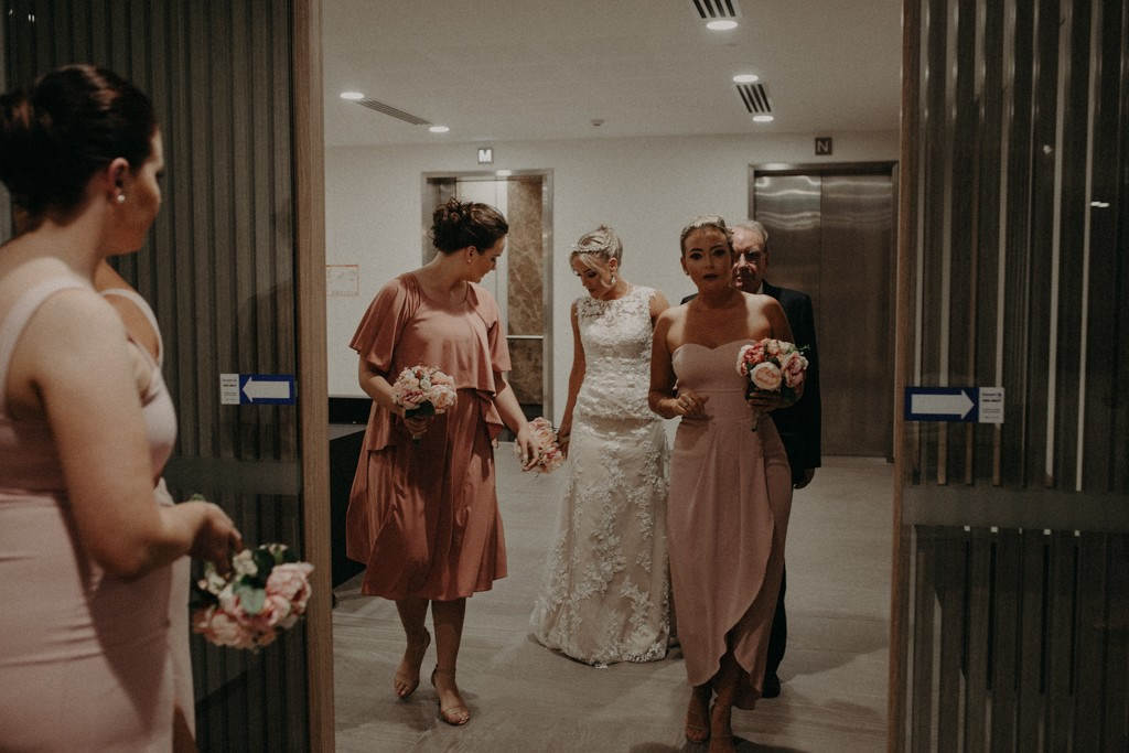 Bride and bridesmaids at Brisbane Registry RBDM