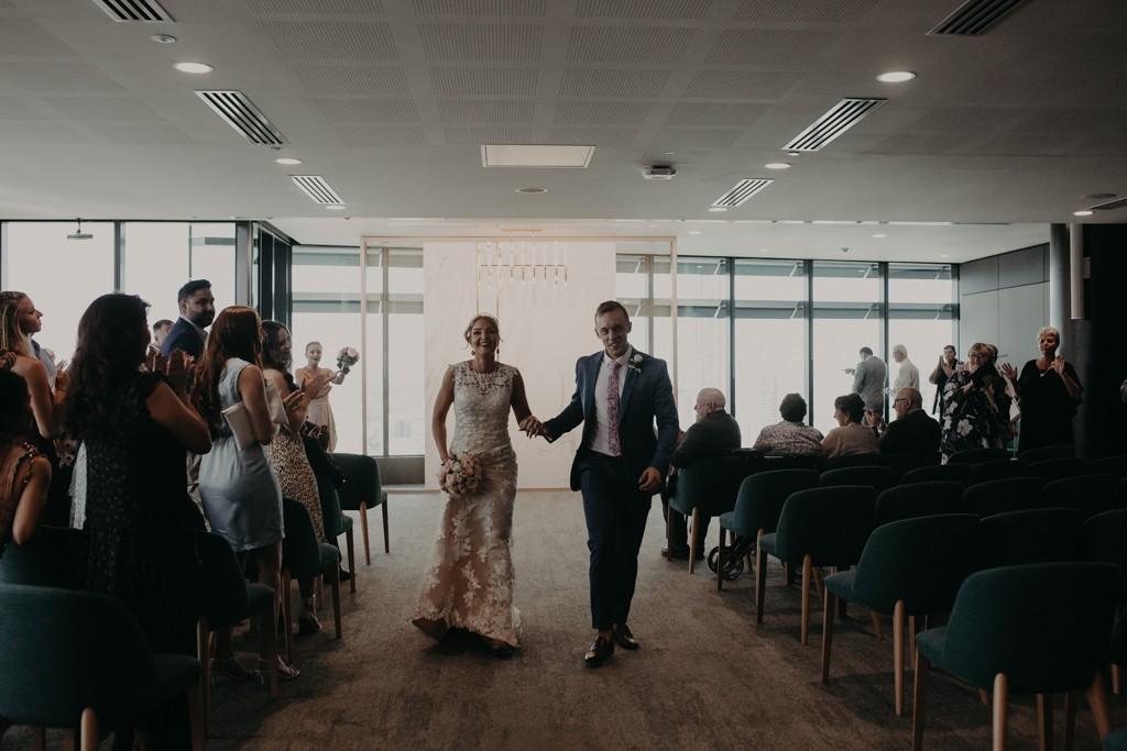 Bride and groom at Brisbane Registry RBDM