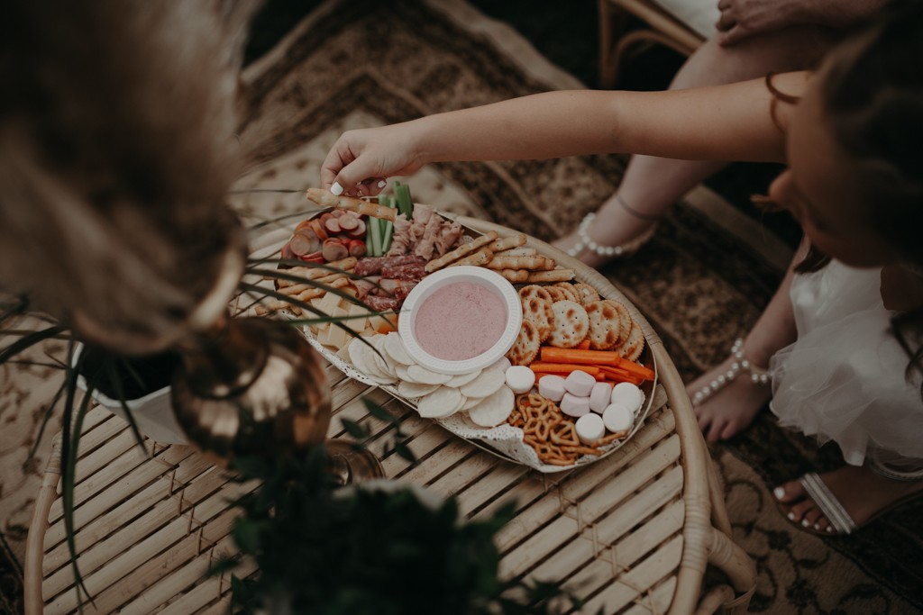party food at garden wedding Eatons hill Brisbane