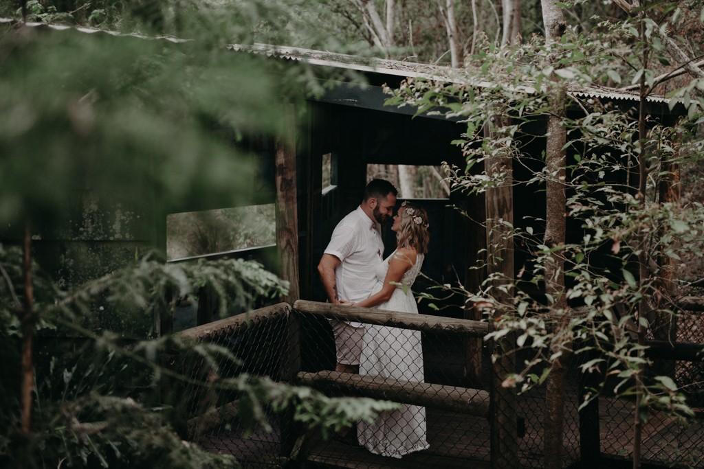 woman and man talking at Kumbartcho Sanctuary at Eatons Hill