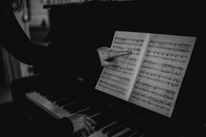 piano in brisbane music studio sheet music